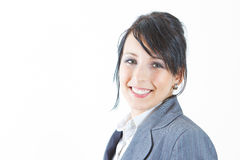 Mulher nova de sorriso em um terno Imagens de Stock Royalty Free