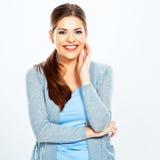 Mulher nova de sorriso emoção feliz Foto de Stock