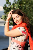 Mulher nova de sorriso feliz Imagens de Stock Royalty Free