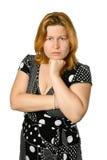 Mulher nova dejected imagem de stock royalty free
