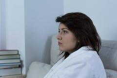 Mulher nova deprimida Imagem de Stock