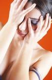 Mulher nova desassossegado Fotos de Stock