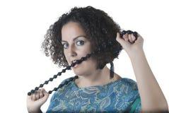 Mulher nova despreocupada Fotos de Stock Royalty Free