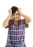 Mulher nova disappointed irritada imagem de stock royalty free