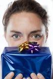 Mulher nova do aniversário Foto de Stock Royalty Free