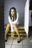 Mulher nova do brunnet Fotografia de Stock Royalty Free