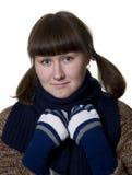Mulher nova e lenço Fotografia de Stock