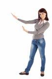 Mulher nova em mostrar o Pose Fotos de Stock