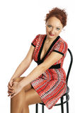 Mulher nova em um vestido imagem de stock