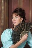 A mulher nova em um vestido antigo imagens de stock