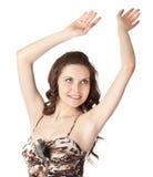 Mulher nova em um vestido espectacular fotos de stock royalty free