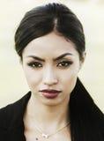 Mulher nova exótica bonita Imagem de Stock Royalty Free