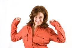 Mulher nova feliz bonita Imagem de Stock Royalty Free