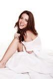 Mulher nova feliz de riso imagem de stock royalty free