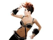 Mulher nova Funky Imagem de Stock Royalty Free