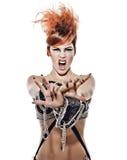 Mulher nova Funky Imagens de Stock Royalty Free