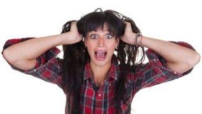 Mulher nova gritando Imagens de Stock