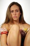 Mulher nova irritada Imagens de Stock
