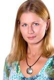 Mulher nova lindo calma Imagem de Stock Royalty Free