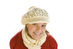 A mulher nova lindo com seus olhos abre largamente Fotos de Stock