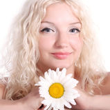 Mulher nova loura bonita Imagem de Stock Royalty Free