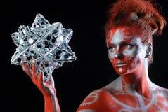 Mulher nova místico com face pintada Imagem de Stock Royalty Free