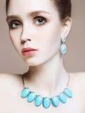 Mulher nova 15 Modelo bonito da menina com composição Fotografia de Stock Royalty Free