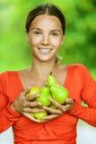Mulher nova na blusa vermelha Imagem de Stock Royalty Free