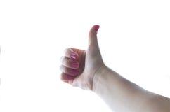 Mulher nova na camisa cor-de-rosa Imagens de Stock