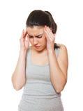 Mulher nova na dor Imagem de Stock