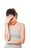 Mulher nova na dor Imagem de Stock Royalty Free