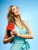 Mulher nova no amor fotografia de stock royalty free