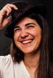Mulher nova no chapéu Fotos de Stock Royalty Free