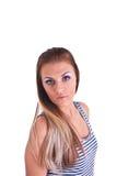 Mulher nova no estúdio Fotos de Stock