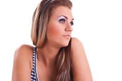 Mulher nova no estúdio Fotos de Stock Royalty Free