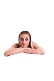 Mulher nova no estúdio Fotografia de Stock Royalty Free