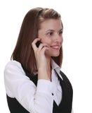 Mulher nova no telefone Foto de Stock