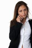 Mulher nova no telefone imagens de stock royalty free