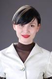 Mulher nova no terno fotografia de stock royalty free