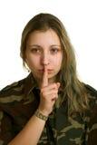 Mulher nova no uniforme militar Imagem de Stock Royalty Free