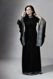 Mulher nova no vestido medieval Fotos de Stock