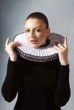 Mulher nova no vestido medieval Imagem de Stock Royalty Free