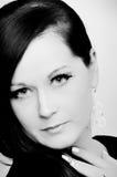 Mulher nova preto e branco de contraste elevado Imagem de Stock Royalty Free