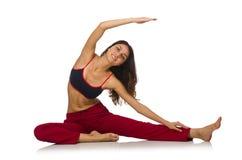 Mulher nova que faz exercícios Fotos de Stock