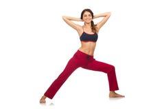 Mulher nova que faz exercícios Imagens de Stock