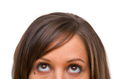 Mulher nova que olha afastado imagens de stock