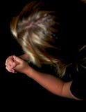 Mulher nova que praying Fotografia de Stock