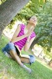 Mulher nova que praying Fotos de Stock