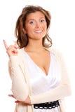 Mulher nova que tem uma idéia Foto de Stock Royalty Free
