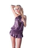 Mulher nova quente no vestido curto Fotos de Stock